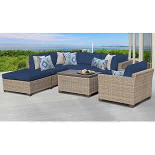 Monterey Outdoor 7 Piece Sectional Seating Group with Cushions