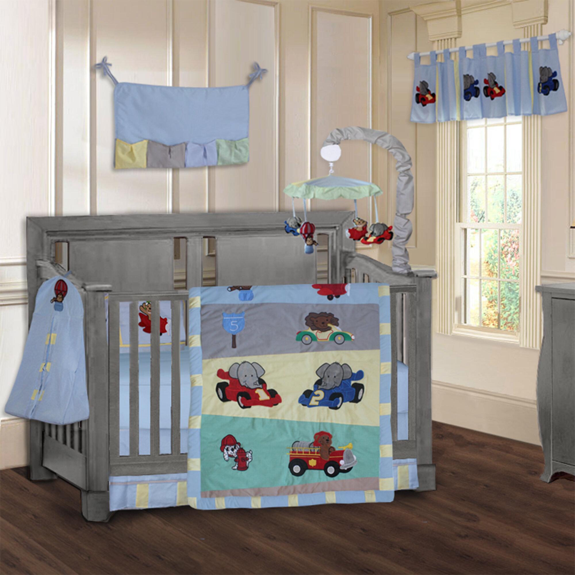 Zoom Car Racing Baby 9 Piece Crib