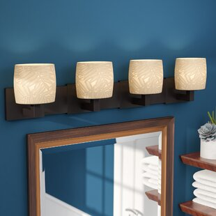 World Menagerie Bismark Oval Shade 4-Light Vanity Light
