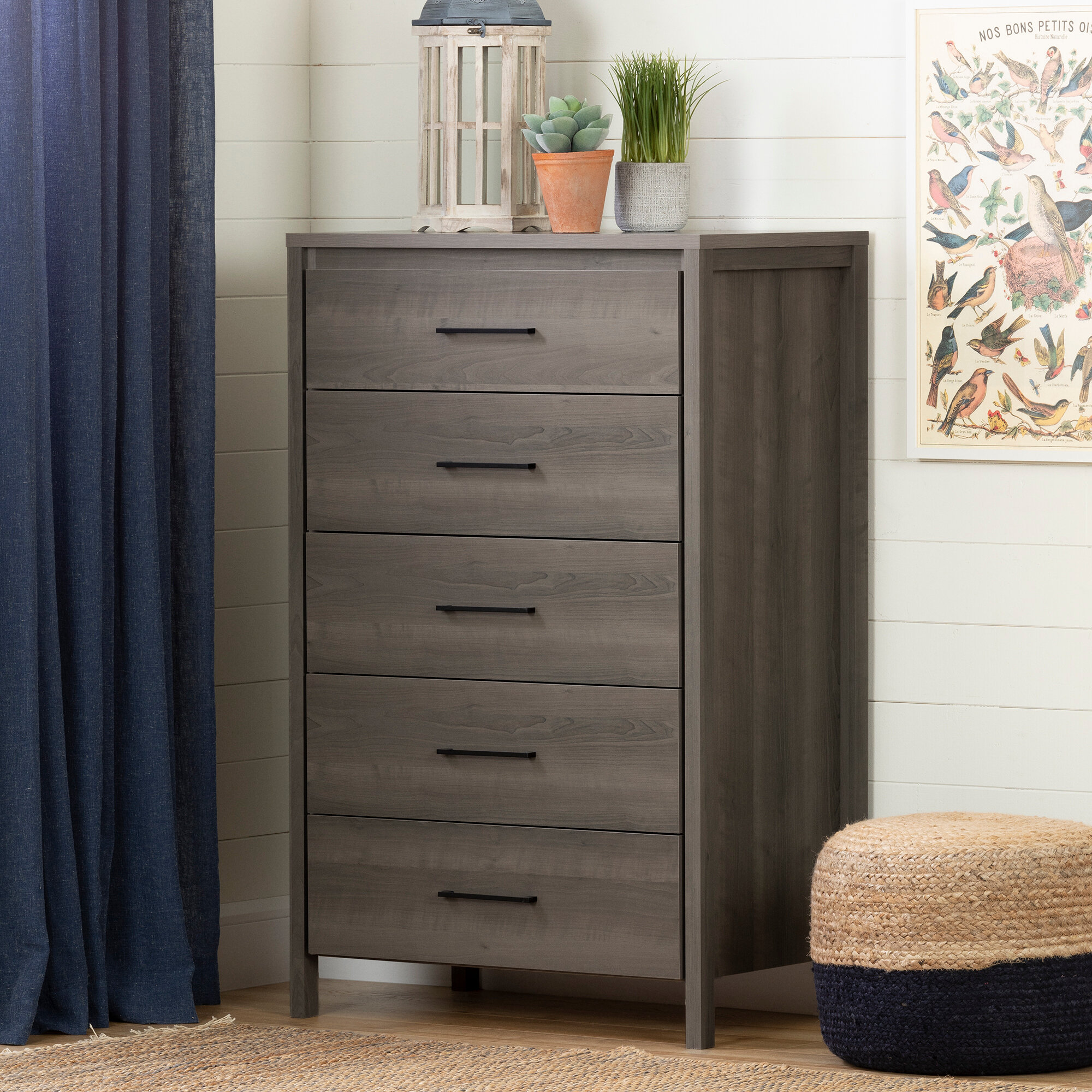 South Shore Gravity 5 Drawer Chest Reviews Wayfair