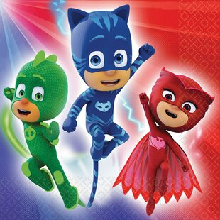 PJ Masks Paper Disposable Lunch Napkin (Set of 16)