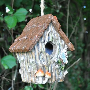 Woodland Tree Trunk Hanging Bird House By Sol 72 Outdoor