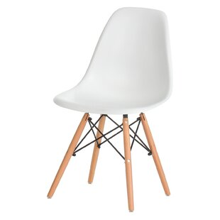 Plastic Molded Solid Wood Dining Chair