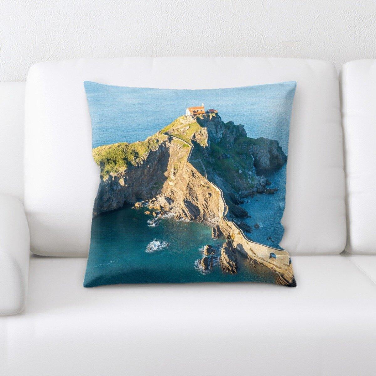 Latitude Run Yohan Mountain And Cliffs Throw Pillow Wayfair