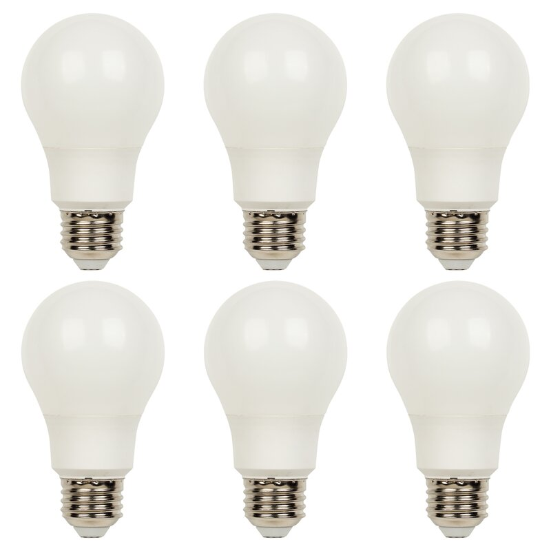Symple Stuff 40 Watt Equivalent A19 Led Dimmable Light Bulb Warm White 3000k E26 Medium Standard Base Wayfair