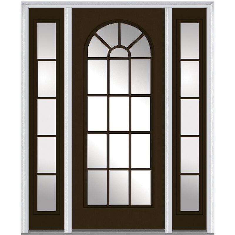 Verona Home Design Smooth Prefinished Fiberglass Prehung Front Entry Door Wayfair