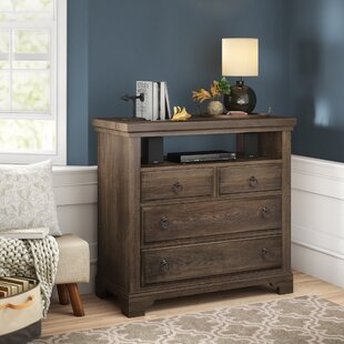 Calila 4 Drawer Media Chest by Birch Lane™ Heritage Top Reviews