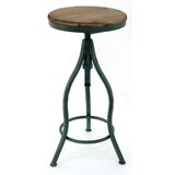 Wolfe Adjustable Height Bar Stool by Williston Forge
