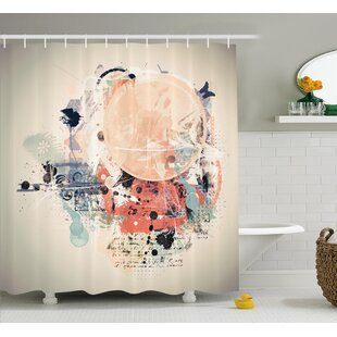 Compare prices Grant Grunge Mix Collage Shower Curtain By Ebern Designs