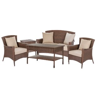 Ruppe Garden Patio 5 Piece Sofa Seating Group with Cushions