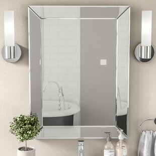 Wade Logan Rectangle Silver Vanity Wall Mirror