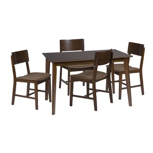 Bourque 5 Piece Dining Set Corrigan Studio