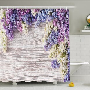 Rustic Home Lilac Flowers Bouquet on Table Nature Romance Shower Curtain Set