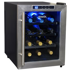 12 Bottle Single Zone Freestanding Wine Cooler by NewAir
