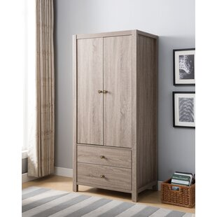 Wheatly Wooden Storage Cabinet Wardrobe Armoire