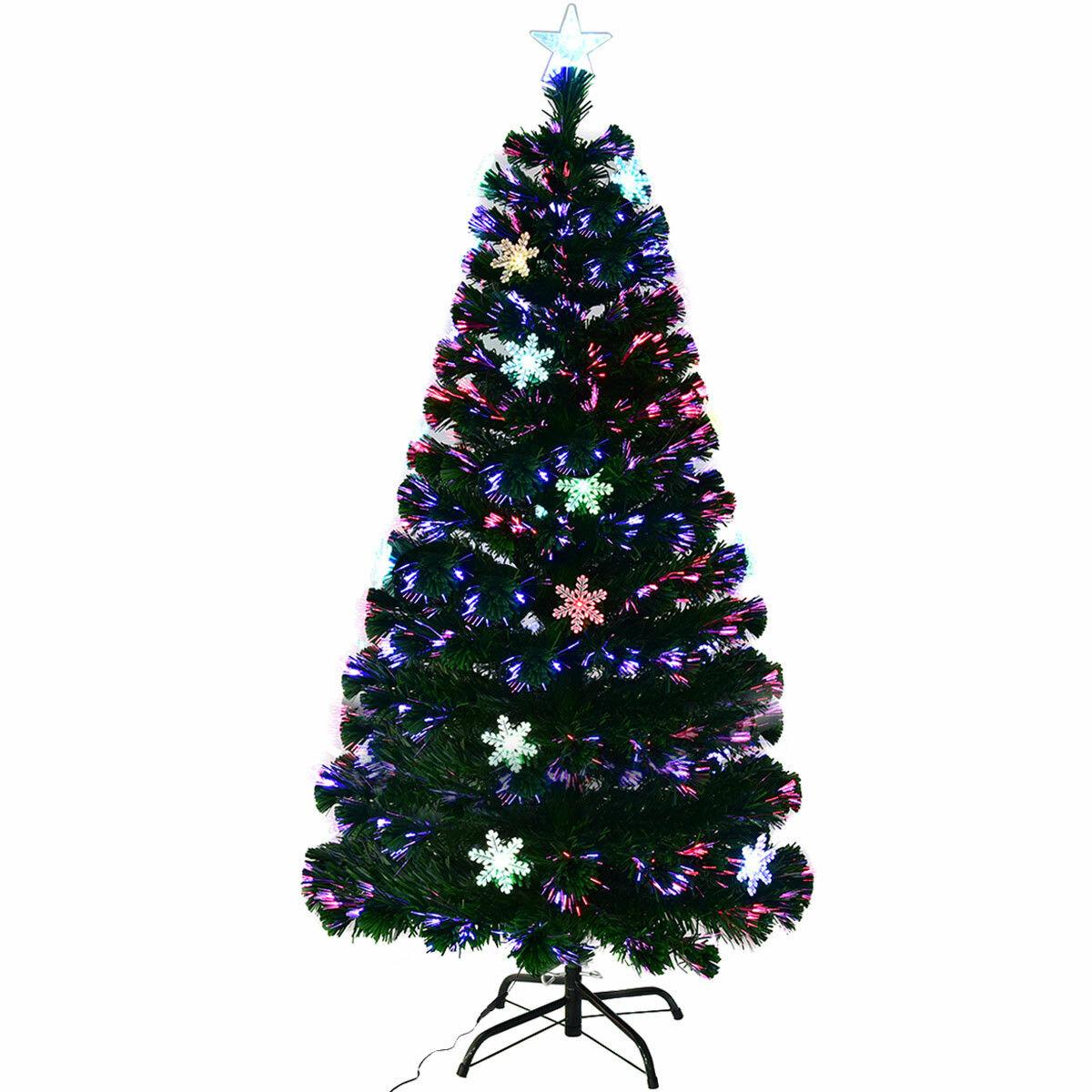 Arbre De Noël Artificiel En Pin Vert, 7 Pi, Avec 40 Lumières Multicolores