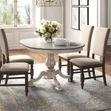 Tiphaine Poplar Solid Wood Dining Table by Kelly Clarkson Home