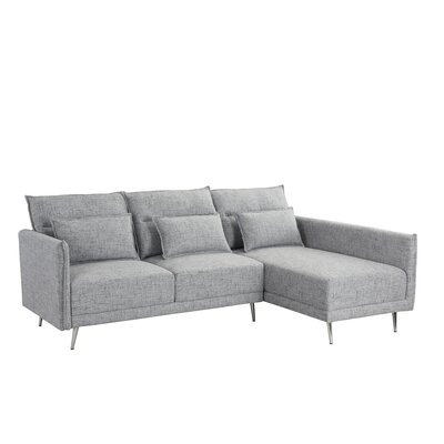 Turn on the Brights Lyndon Sectional Upholstery Color: Light Gray