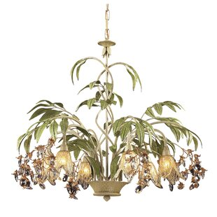 Beachcrest Home Evelyne 6-Light Shaded Chandelier