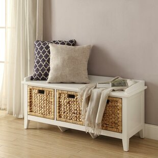 Brekke Wood Storage Bench