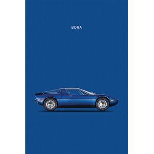 '1973 Maserati Bora' Graphic Art Print on Canvas ByEast Urban Home