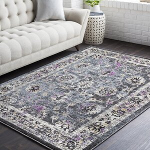 Chamberlain Medium Gray/Black Area Rug