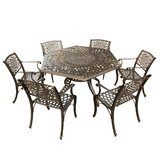 Rossman Mesh Lattice 7 Piece Dining Set