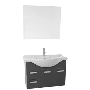 Phinex 32 Single Bathroom Vanity Set with Mirror by Nameeks Vanities