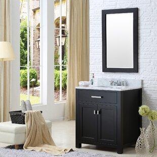 Raven 25 Single Bathroom Vanity Set with Mirror ByAndover Mills