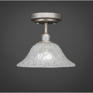 Kash 1-Light White Semi-Flush Mount by Williston Forge