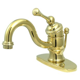 Kingston Brass Victorian Bathroom Faucet with Brass Pop-Up Drain