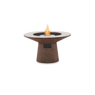 Brown Jordan Fires Mesa Concrete Bio-ethanol Fuel Fire Pit Table