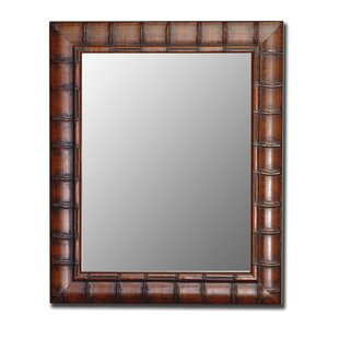 Bayou Breeze Rectangle Bamboo Wall Mirror