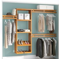 Deals on John Louis Home 12-inch W Deep Solid Wood Simplicity Closet System