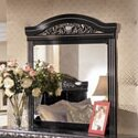 Wildon Home ® Park Mirror in Deep Glossy Bl..