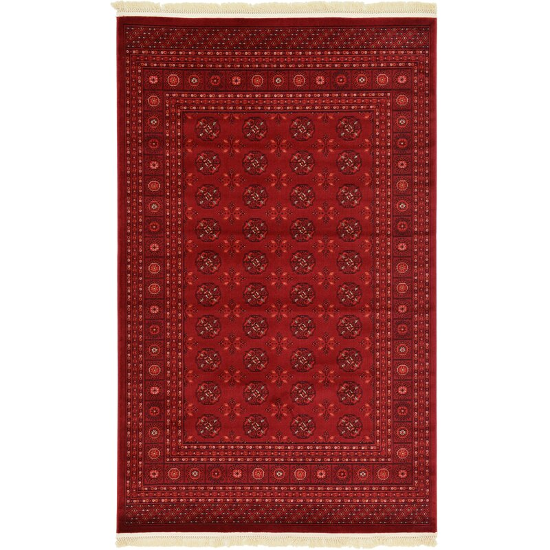 Kowloon Dark Red Area Rug