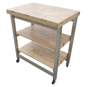 Prep Table with Wood Top by Oasis Concepts