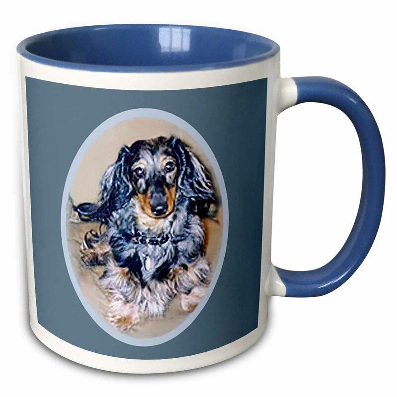 Winston Porter Fiske Long Hair Dapple Dachshund Coffee Mug Wayfair