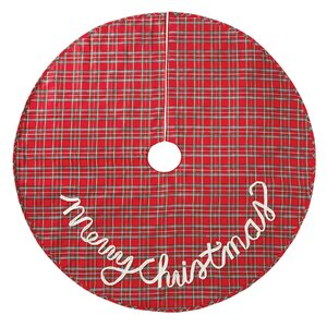 Tartan Plaid Christmas Tree Skirt