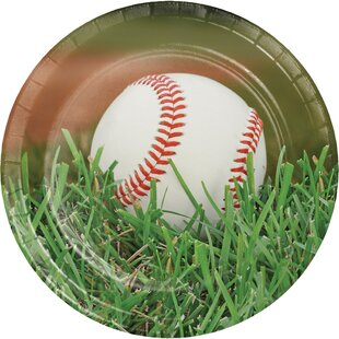 Baseball Paper Dessert Plate (Set of 24)