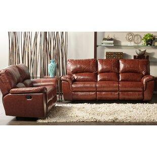 Loon Peak Albertus Reclining 2 Piece Leather Living Room Set