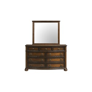 Alvina 9 Drawer Dresser with Mirror by Astoria Grand