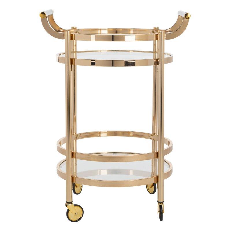 Wrought Studio  Hendrum Bar Cart Frame Color: Gold