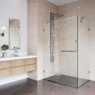 Shower 38.25 inch  x 73.38 inch  Square Hinged Shower enclosure