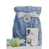 4 Piece Baby Blanket Gift Set