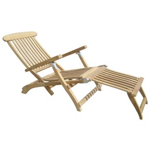Waverly Place Reclining Teak Chaise Lounge by Red Barrel Studio Wonderful