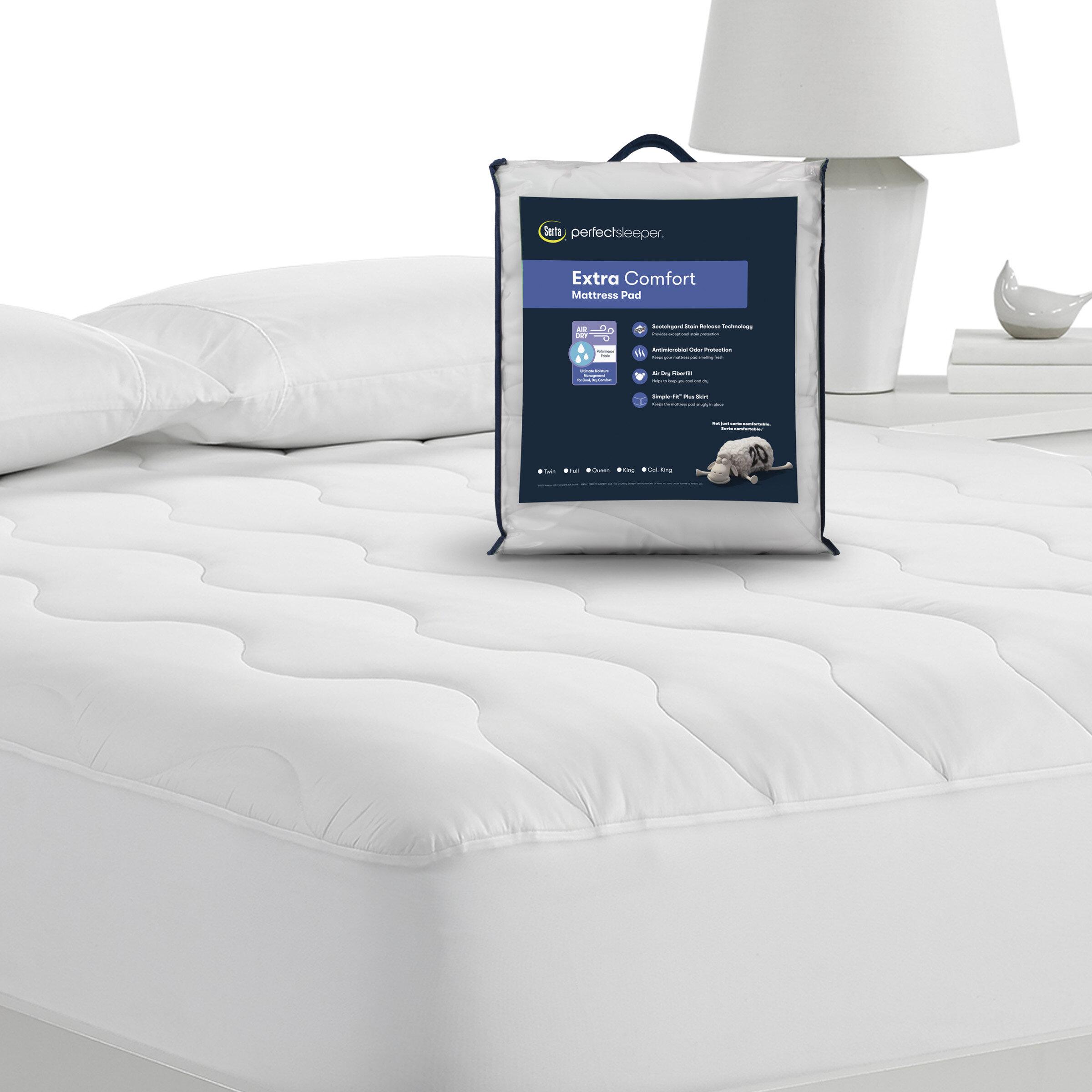 Serta Air Dry Extra Comfort Mattress Pad Reviews Wayfair