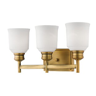 Compare prices Zeke 3-Light Vanity Light By Winston Porter