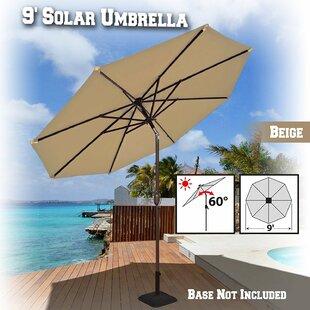 Rosecliff Heights Kellswater Solar Light Outdoor 9' Market Umbrella