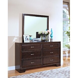 Norrington 6 Drawers Double Dresser with Mirror